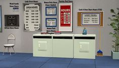 Mod The Sims - Store Hours signs and Detergents pictures for your laundrettes
