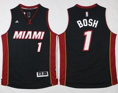 Miami Heat #1 Chris Bosh Stitched Black NBA Jersey