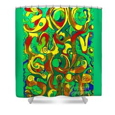 Shower Curtains - Boy Man God Shit 5 Shower Curtain by Kevin J Cooper Artwork