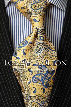 Lord R Colton Masterworks Tie - Sun & Sea Blue Cape Horn Silk Necktie - $195 New #LordRColton #NeckTie