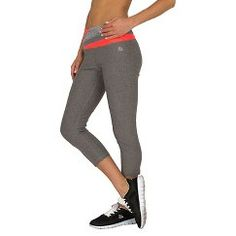 Women's Color Block Waist Capri Leggings Charcoal Heather - RBX