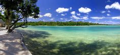 'Like' if you want to close your eyes and directly go swim into this paradise, next to the Warwick Le Lagon Resort & Spa in #Vanuatu..