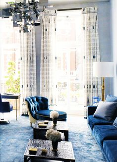 NAVY BLUE: David Collins A truly talented man and a huge loss to the world of interiors