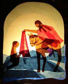 Transparentes Fensterbild Waldorf Jahreszeitentisch Sankt St Martin Therapie: Tissue Paper Lanterns, Paper Art, Paper Crafts, Waldorf Crafts, Autumn Crafts, Fall Diy, Verona, Art Lessons, Art For Kids