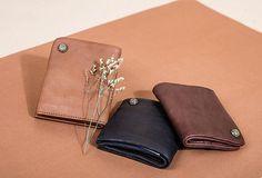 Handmade Short Leather Wallet Befold Wallet For Men Women Billfold Wallet, Card Wallet, Men Photography, Product Photography, Leather Men, Leather Wallet, Suitcase Bag, Creative Instagram Photo Ideas, Men Photoshoot