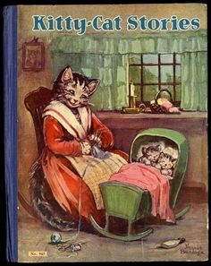 """""""KITTY CAT STORIES"""", Saalfield Publishing, 1930. Cover by FRANCES BRUNDAGE"""