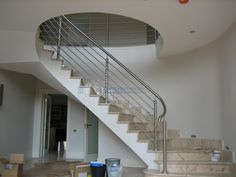 Concrete Staircase, Stair Handrail, Sound Proofing, Prefab, Staircases, Stairs, Rustic, Design, Stairway