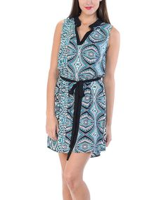 #Kokette Another great find on #zulily! Mint Geometric Sleeveless Dress #zulilyfinds