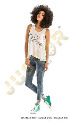 CANOTTA ART. 1009 - http://www.just-r.it/shop/it/maglieria/494-canotta-art-1009.html  LEGGINGS ART. GRAZIA - http://www.just-r.it/shop/it/pantaloni/468-leggings-art-grazia.html  SCARPA ART. J103 - http://www.just-r.it/shop/it/scarpe/336-scarpa-art-j103.html