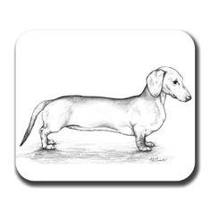 Doxie Longbody Dachshund Dog Art Mouse Pad on Etsy, $8.95