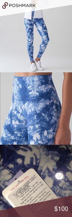 NWT lululemon wunder under tight hr *shibori Beautiful tie dye print. Full on luxtreme. lululemon athletica Pants Leggings