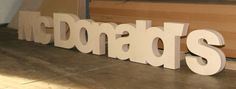 Display Logo letters from the Cutting room. Frets etc