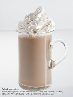 Pinnacle® Chocolate Whipped® and hot chocolate