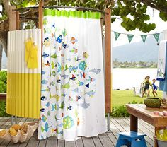 I wish they made this in an extra long size! If they weren't $59, I'd buy two and sew them together to make it work with our extra high curtain rod.