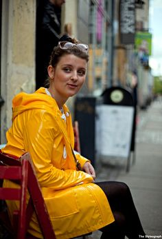 Distortion Festival Copenhagen Street Style Fashion Yellow Raincoat www.thestyleograph.blogspot.com