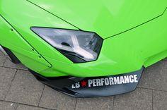 Cars Don't Get Much Crazier Than A Lime Green Liberty Walk Lamborghini Aventador