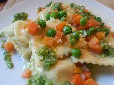 Fatemi cucinare !!!: Ravioli alle patate con sugo dell'orto e pesto di ...