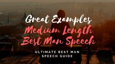 From sentimental to serving up great one-liners, our best man speech examples will help get those creative juices flowing & save you time! Best Man Wedding Speeches, Best Speeches, Best Man Speech Examples, Great One Liners, One Liner Jokes, Wedding Toast Samples, Maid Of Honor Speech, Wedding Toasts, Father Of The Bride