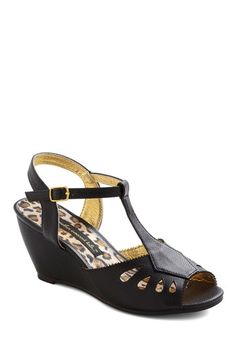 """Black """"Anise and That Wedge,"""" #ModCloth"""