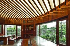 Spectacular Torus-Shaped Stone House With Sustainable Features in Vietnam - http://freshome.com/2012/12/12/spectacular-torus-shaped-stone-house-with-sustainable-features-in-vietnam/