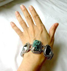 Stephen Dweck 2002 One Of A Kind Drusy Iolite Silver 925 Bracelet OAK #StephenDweck #Beaded