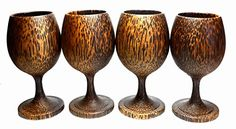 Set 4 Handmade Wooden Wine Glass Glasses Palm Wood  A * Check out this great product.Note:It is affiliate link to Amazon.
