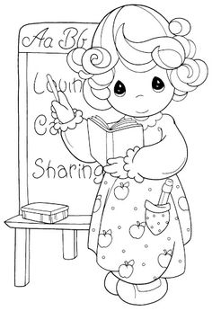 Pinto Dibujos: Día del maestro dibujos para colorear de Precious ...