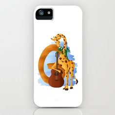 G comme Girafe iPhone & iPod Case by Dinett illustration - $35.00