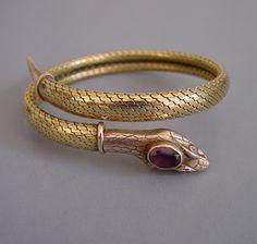 Snake bracelet with purple rhinestones Snake Bracelet, Snake Jewelry, Snake Ring, Bangle Bracelets, Gold Jewelry, Jewelry Accessories, Jewelry Design, Snake Earrings, Ancient Jewelry