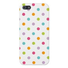 Cute Girly Colorful Polka Dots iPhone 5 Case from www.sweetzoeshop.com