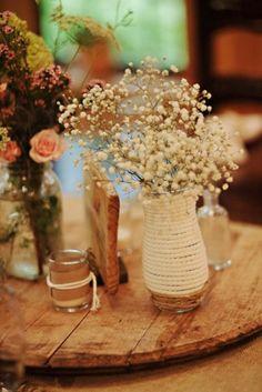 Baby's Breath In Old Vases