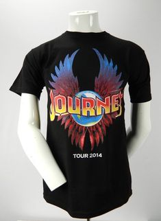 91bf3efe Journey Tour 2014 w/Steve Miller Band Tower of Power Small Black T Shirt  Concert