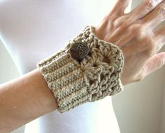 Quick cuffs to knit and crochet. (and I love this yarn…) I designed these cuffs to coordinate with the free pattern from Lion Brand -- Cardiff Cowl pictured in the last photo: Lion Brand Cardiff Cowl