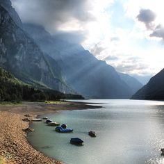 Klöntalersee, Glarus. Although a little bit distant from central Switzerland, the region Glarus is a very nice place to be.