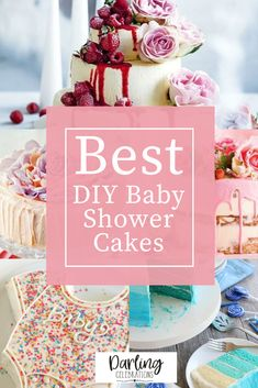 Easy to make DIY Baby Shower Cakes. Get full recipes and instructions for 10 of the prettiest DIY Baby Shower cake ideas. #babyshowercakes #DIYbabyshowercakes #DIYbabyshowercakeideas Amazing Baby Shower Cakes, Baby Shower Cakes For Boys, Tea Party Baby Shower, Star Baby Showers, Baby Boy Shower, Simple Baby Shower, Baby Shower Winter, Baby Shower Advice, Shower Ideas