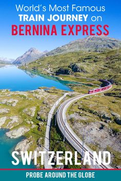 What is it like to ride the world's most famous train, the Bernina Express in Switzerland. Join us on the journey from Lugano to St. Moritz on this Unesco World Heritage train ride in magical Switzerland. #berninaexpress #berninatrain #swisstrains #switzerland #trainjourney #unesco #trainrides #scenictrains