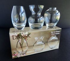 Dansk Set of 3 Fiori Flower Bud Vases Home Decor by TheLogChateau