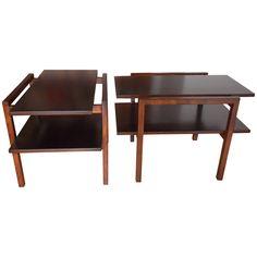 Greta Grossman Architectural End Tables for Glenn of California ca.1950's