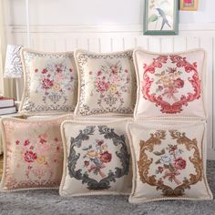 45*45cm Europe Style Printed Linen Cushion Covers Decorative Wedding Room Sofa Chair Bedding Hotel Pillow Case Home Decor #Affiliate