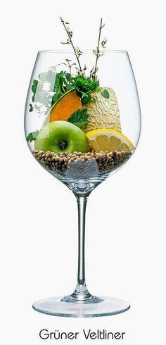 Grüner Veltliner (Green Veltliner)  (white) | Aromas of green apple, lemon, blossom, cantaloupe, herbs, black & white pepper, mint | Austria, Slovakia & Hungary (Zöld Veltelini)