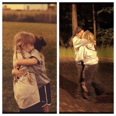 The pictures are of the same two girls, they grew up together and fell in love... soooo sweet :)