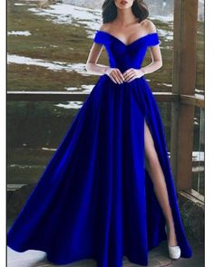 Long Prom Dress Prom Dresses Prom Dress 2019 Prom Dress For Cheap Prom Dresses Long Split Prom Dresses, Royal Blue Prom Dresses, Prom Dresses 2018, Cheap Prom Dresses, Satin Dresses, Dress Prom, Prom Gowns, Dress Long, Ball Gowns
