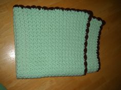 Keep your little toasty warm with this crocheted baby blanket.  You can find this at https://www.etsy.com/listing/204421490/green-crocheted-baby-blanket?ref=shop_home_active_11