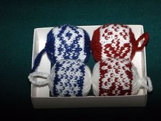 Karácsonyfadíszek (Ornaments for the christmastree) #ornament #knit #norwegian #pattern #handmade