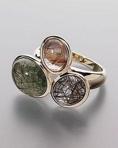 Sogni d'oro Goldring mit Rutilquarz #schmuck #jewellery #sognidoro #sogni #d´oro #ring