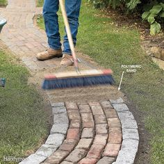 Polymeric Sand has a binding agent that is activated by moisture - a must remember diy garden landscaping Landscaping: Tips for Your Backyard Outdoor Projects, Garden Projects, Diy Projects, Brick Projects, Polymeric Sand, Garden Types, Dream Garden, Lawn And Garden, Easy Garden