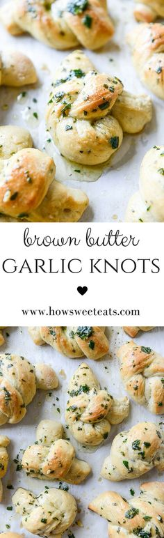 Brown Butter Herb Garlic Knots! These are perfect for Thanksgiving! I http://howsweeteats.com /howsweeteats/ #thanksgiving