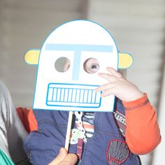 Robot mask: Fun idea for a robot birthday party, outer space party, alien party, technology theme; any mask that fits your theme could make your party extra fun!