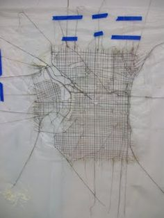 sewn map of Philly - Kathleen Callahan