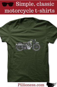 Some motorcycle tshirts are so classic you can wear them forever. Cool Motorcycles, Cool Stuff, Classic, Mens Tops, T Shirt, How To Wear, American, Inspiration, Vintage